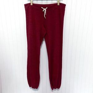 Monrow Maroon Supersoft Vintage Sweatpants Jogger
